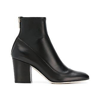 Sergio Rossi A75282maf7151000 Women-apos;s Black Leather Ankle Boots