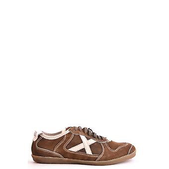 München Ezbc231001 Men's Brown Suede Sneakers