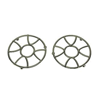 Satyna Nickel Finish Metal Modern Design Trivets Zestaw 2
