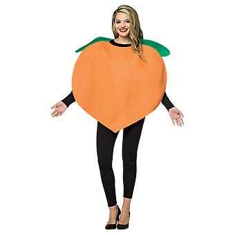 Adult Peach Emoji Food Novelty Funny Fancy Dress Costume