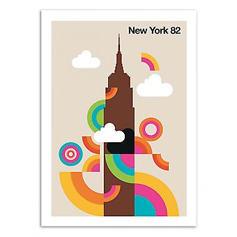 Art-Poster - New York 82 - Bo Lundberg 50 x 70 cm