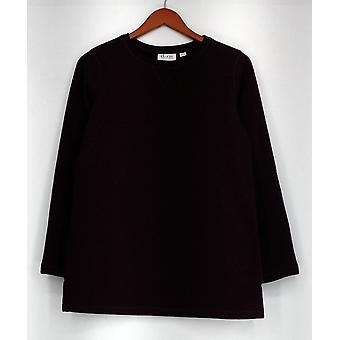 Denim & Co. Pullover XXS Aktive Langarm Pullover Fleece lila A238334