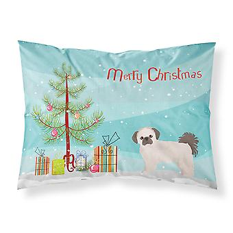 Pekeapoo Christmas Tree Fabric Standard Pillowcase