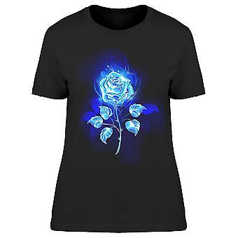 Blooming Blue Rose Tee Women-apos;s -Image par Shutterstock