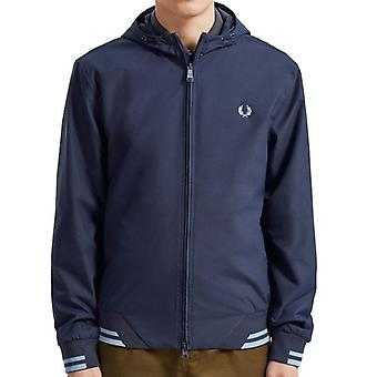 Fred Perry J7500 Tipped Hooded Sports Jacket Carbon Blue Fred Perry J7500 Tipped Hooded Sports Jacket Carbon Blue Fred Perry J7500 Tipped Hooded Sports Jacket Carbon Blue Fred Perry