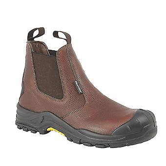 Grafters Mens Conker Tumbled Cuir Safety Boot