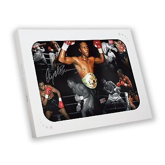 Nigel Benn signiert Boxen Foto: Dark Destroyer In Gift Box