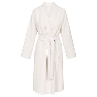 Féraud 3887102-11727 Women's High Class Cream Off White Cotton Dressing Gown Loungewear Robe