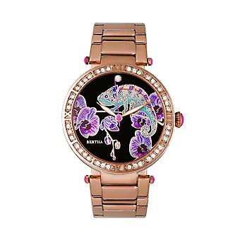 Bertha Camilla Mother-Of-Pearl Bracelet Watch - Rose Gold