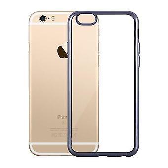 Cadorabo حالة لأبل اي فون 6 / اي فون 6S - حالة شفافة مع اللون الأسود - حالة الهاتف مصنوعة من سيليكون TPU في تصميم كروم - حالة السيليكون واقية حالة البسيطة لينة الغطاء الخلفي الوفير
