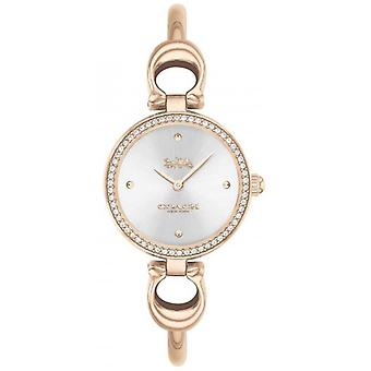 Coach   Womens   Park   Rose Gold Bangle   Silver Dial   14503447 Watch