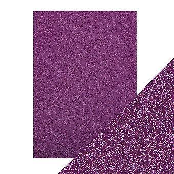 Tonic Studios A4 Craft Perfect Glitter Card, Nebula Purple, 30 x 21.5 x 0.5 cm
