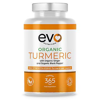Organic Turmeric with Organic Ginger & Organic Black Pepper - Evo Nutrition