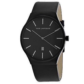 Ted Lapidus Men-apos;s Classic Black Dial Watch - 5131703
