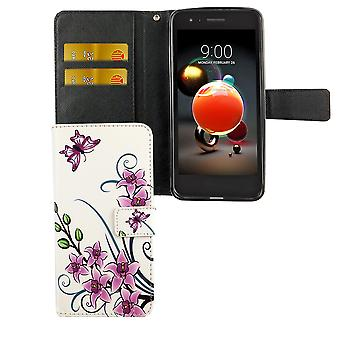 Telefono cellulare custodia per telefono cellulare LG K8 / K9 2018 Lotus Flower