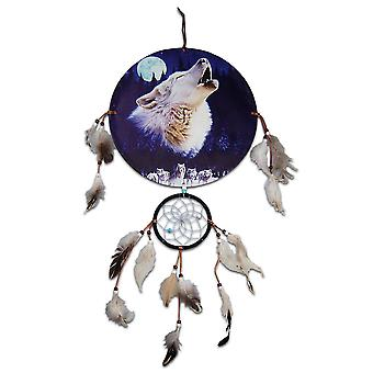 Howling Wolf and Moon Dreamcatcher