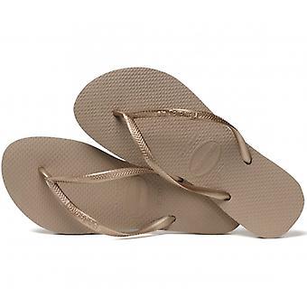 Havaianas hav Slim Ladies Flip Flops nousi kultaa