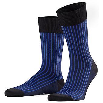 Calzini Falke Oxford Stripe - Nero/Blu