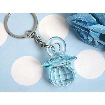 Blue Pacifier Keychain