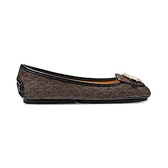 Michael Michael Kors Lillie Moccasin Flats mini logo brązowe buty rozmiar 9,5