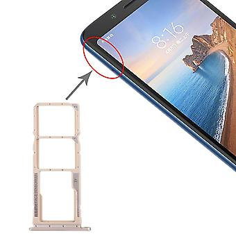 Sim Card Tray for Xiaomi Redmi 7A Gold Cards Holder Sled Holder Spare Part