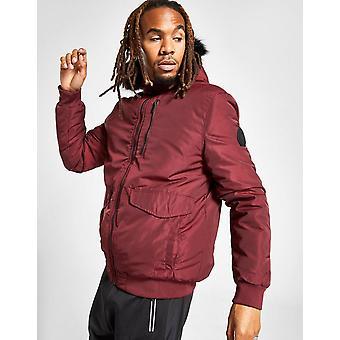 New Supply & Demand Men's Walker Short Parka Jacket Red
