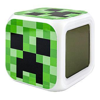Minecraft Digital Alarm Clock - Creeper No. 3 Minecraft Digital Alarm Clock - Creeper No. 3