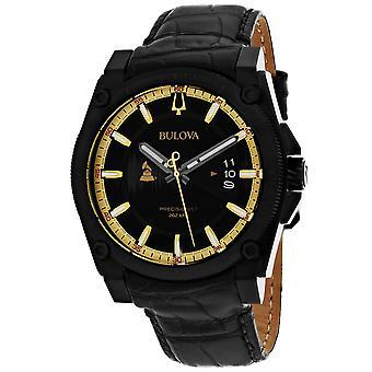 Bulova Men's Grammy Edition Black Dial Uhr - 98B293