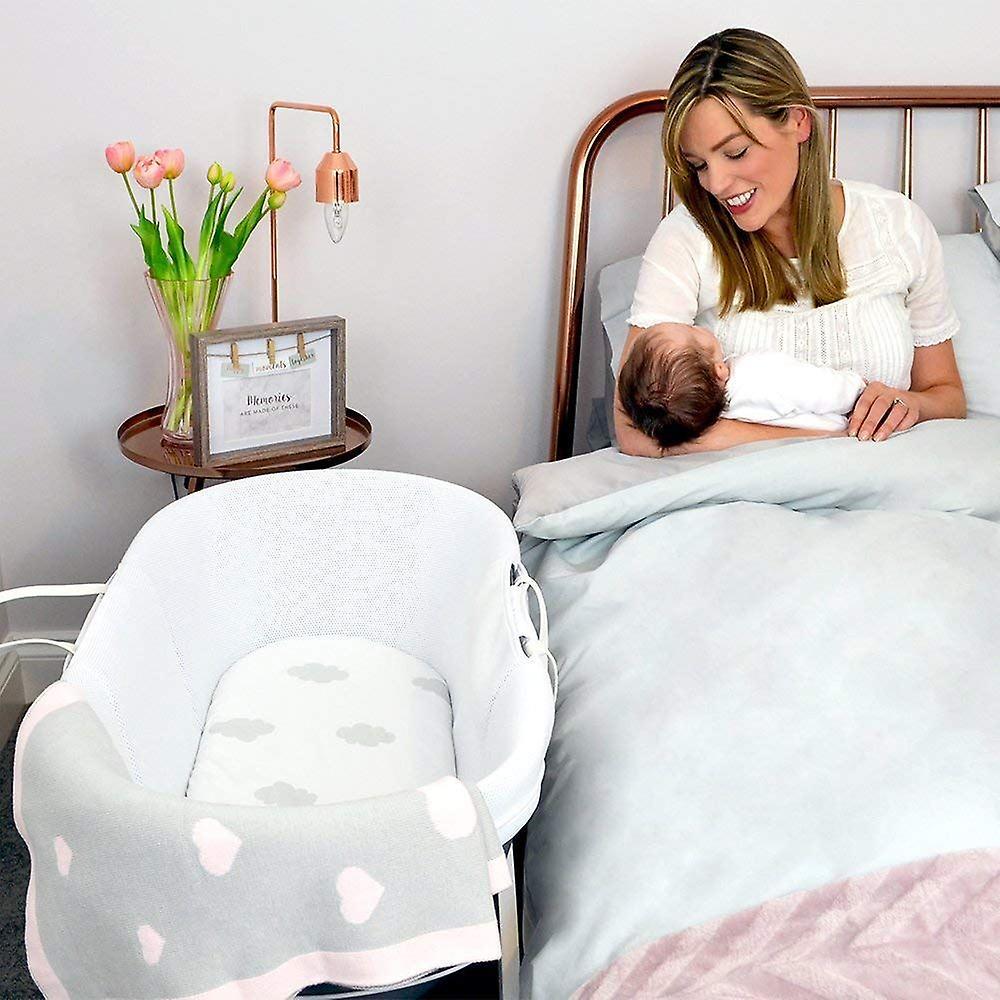 Shnuggle Dreami Sleeper - Slate Grey Baby Basket Cot