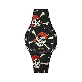Watch Doodle SKULL MOOD DOSK004 - red 39mm male/female