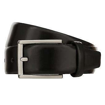 MONTI LONDON Belt Men's Belt Leather Belt Black 8488