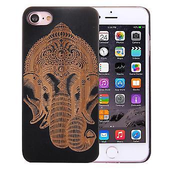 لiPhone SE (2020), 8 و 7 حالة, غانيشا الفنية على غطاء أسود الخشب الخيزران واقية