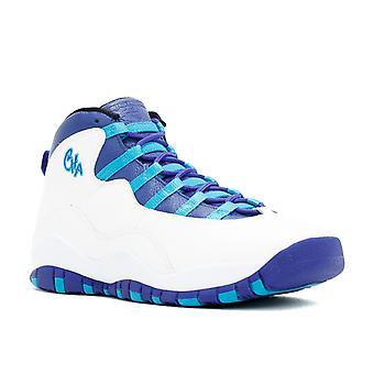 Air Jordan 10 Retro Bg (Gs) 'Charlotte' - 310806-107 - Shoes
