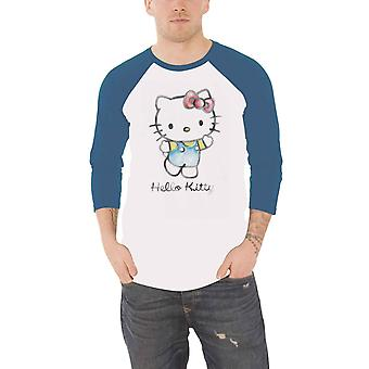 Hello Kitty Baseball Camisa Acuarela logotipo nuevo Oficial Blanco
