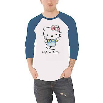 Hello Kitty Baseball Shirt Watercolour logo new Official White