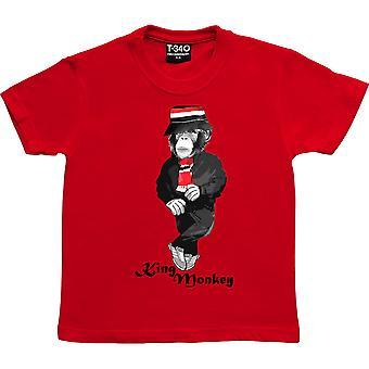 King Monkey Red Kids-apos; T-Shirt