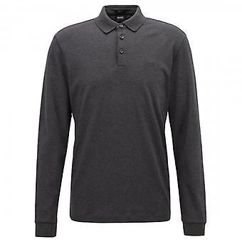 Hugo Boss Pado 11 Vanlig Langermet Jersey Polo Mørk Grå 061 50391826