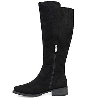 Brinley Co Comfort Womens Whipstitch Riding Boot Black, 6 Regular US