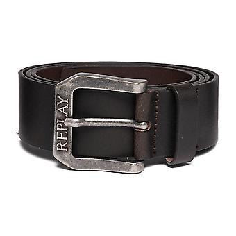 Replay Am2417 Brown Leather Belt