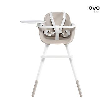 Micuna - ovo ice luxe high chair - white harness