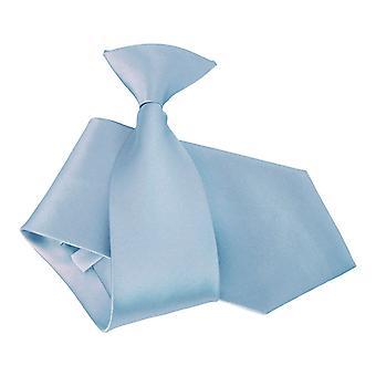 Dusty Blue Plain Satin Clip auf Krawatte