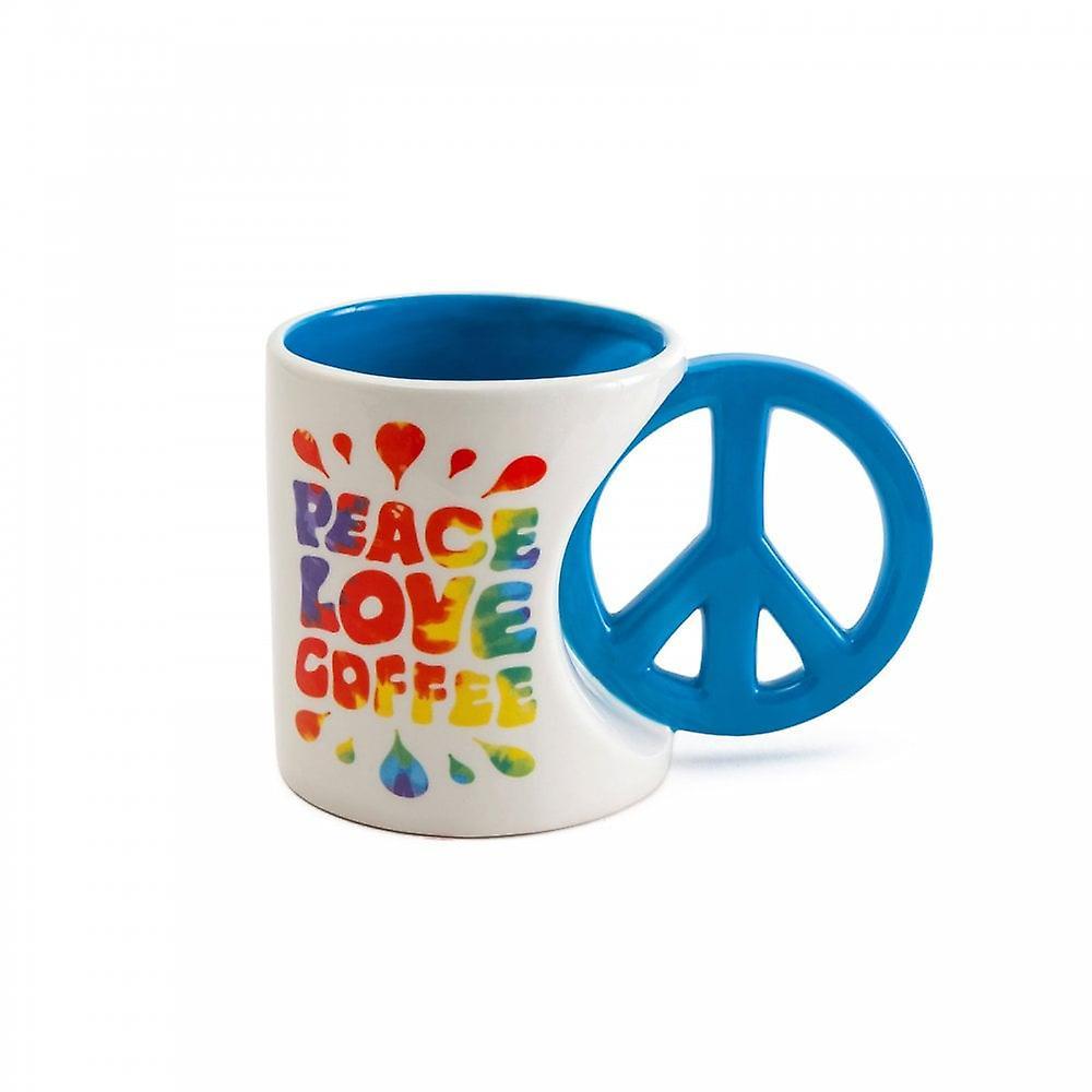 BigMouth Inc. Peace Love Coffee Mug