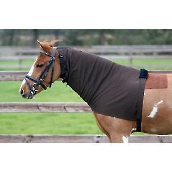 QHP eksem täcker halsar Brown (hästar, häst ridning utrustning, ben och svans, täcker)