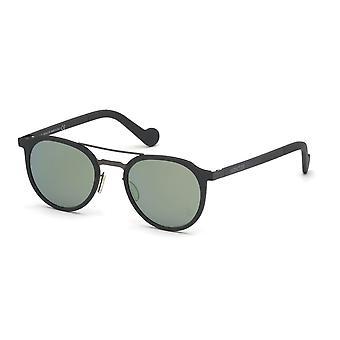 Moncler ML 0065 20Q Grey/Green Mirror Sunglasses