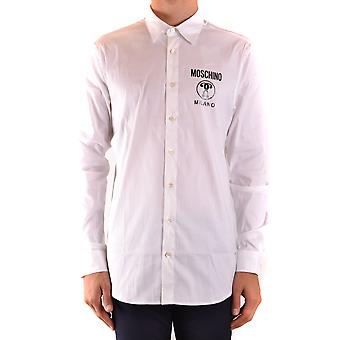 Moschino Ezbc015129 Men's White Cotton Shirt