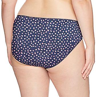 Elomi Women's Plus Size Kim Brief with Stretch Lace Insert, Eclipse, L