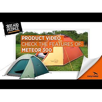 Easy Camp Go Meteor 300 3 Person 2 Room Dome Tent Gold Red