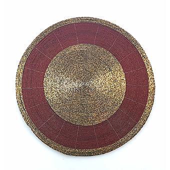Coaster helmet punainen/kulta 35 cm 4 kpl tabletti