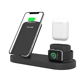 4 Em 1 10w qi carregador de carregador sem fio carregador de ouvido porta-telefone carregador para telefone inteligente para iphone para samsung apple watch apple airpods