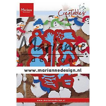 Marianne Design Creatables Cutting Dies - Tiny's Frosty Snowmen LR0631